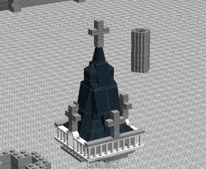 Ini buat puncak towernya, ada 8 tower masing-masing 4 di kiri dan kanan bangunan