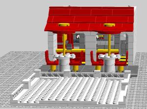 Design berikutnya, McDonald, kayaknya butuh waktu sekitar 2 bulan kumpulin Bricksnya :)