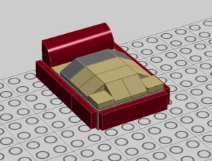 Satukan bed cover yang dibuat dengan alas tempat tidurnya. Maka akan menjadi seperti ini.