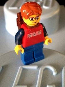 geek berbaju merah :)