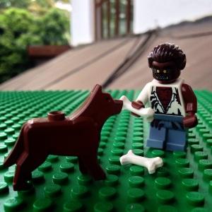 Ada yang ngasih makan anjing, tulang siapa yah itu? :)