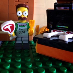 Ned Flanders, lagi panggang daging nihhh :)